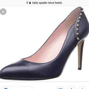 Kate spade Sz 6 navy Neva Heels nwb